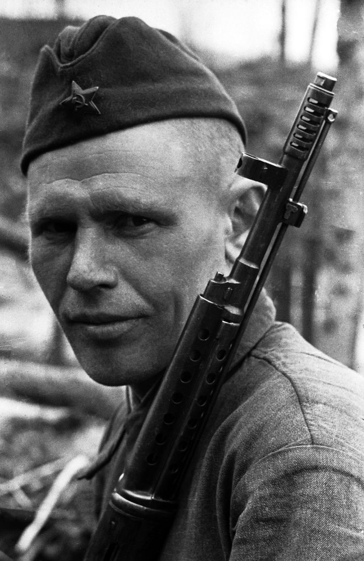 Sniper Kuz'ma Zakharov, 1942. Kalinin front. He was killed in the battle near Rzhev in September, 1942. Russia, WW2.