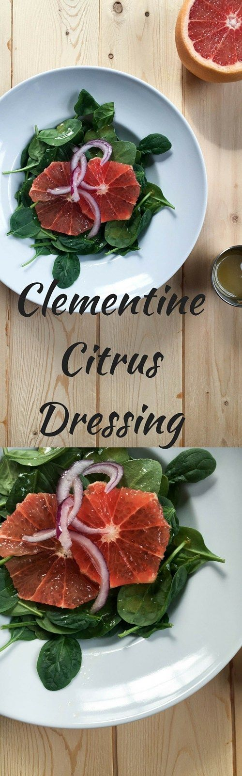 Spinach Salad with Clementine Dressing a refreshing salad with a punch of citrus flavor. This salad dressing recipe can be made in minutes