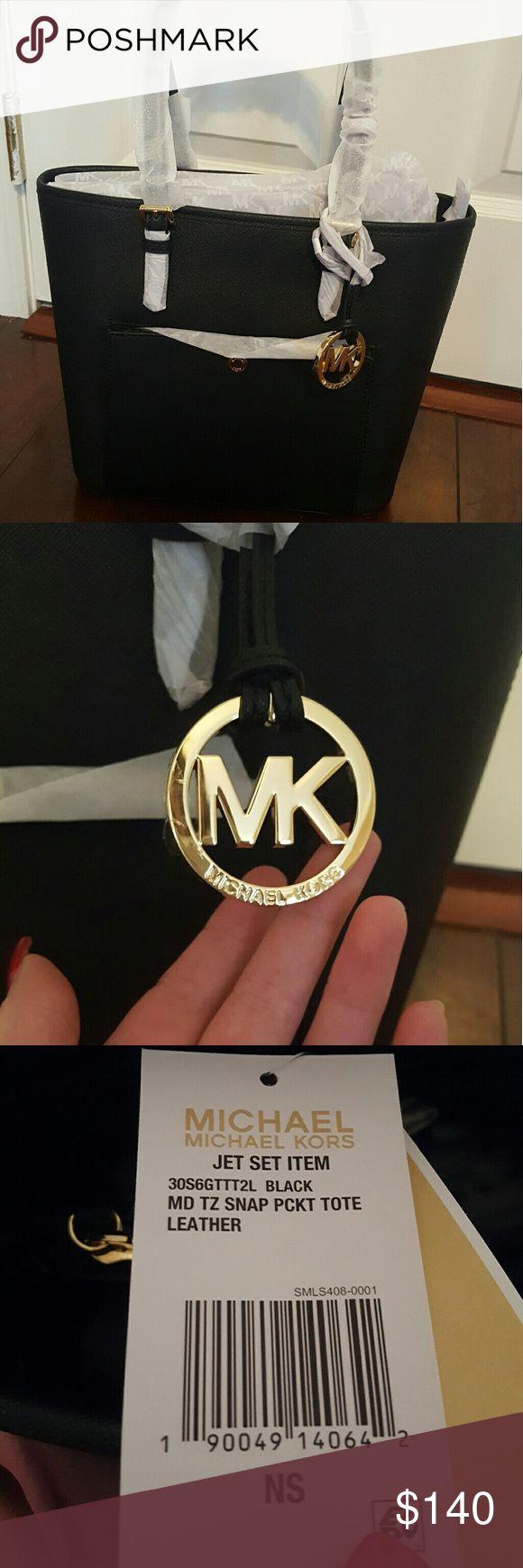 Michael Kors Purse/tote Jet set black purse/tote. Genuine MK. Brand new. Never used. Michael Kors Bags