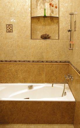 Tile Ideas Around a Fiberglass Bathtub Insert
