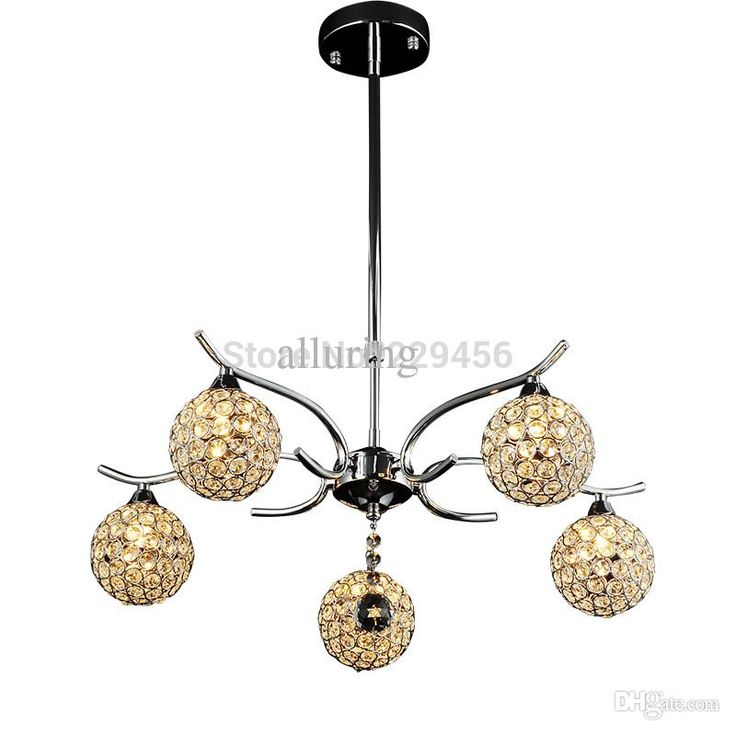 Wholesale Modern K9 Crystal Ball Chandelier Silver Lampshade Living Room Dining Room Fixture 5 Lights G9 220v Wholesale Chandeliers Led Chandeliers From Galry, $214.65| Dhgate.Com