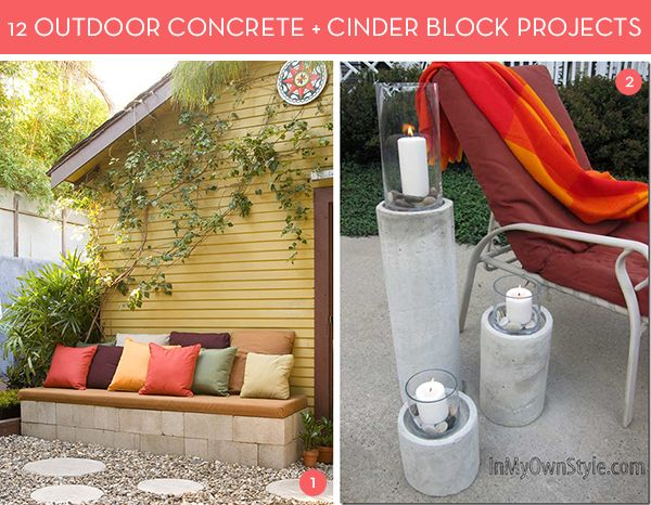 12 Awesome Concrete and Cinder Block Outdoor DIY Projects! » Curbly | DIY Design Community Erin & Jessie might like these!