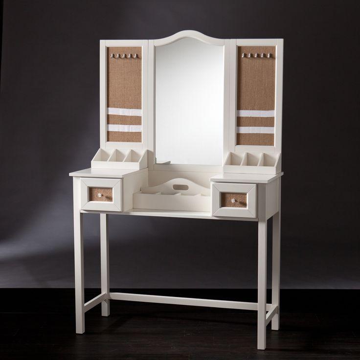 Wildon Home ® Monterey Vanity Desk With Mirror And Jewelry Storage