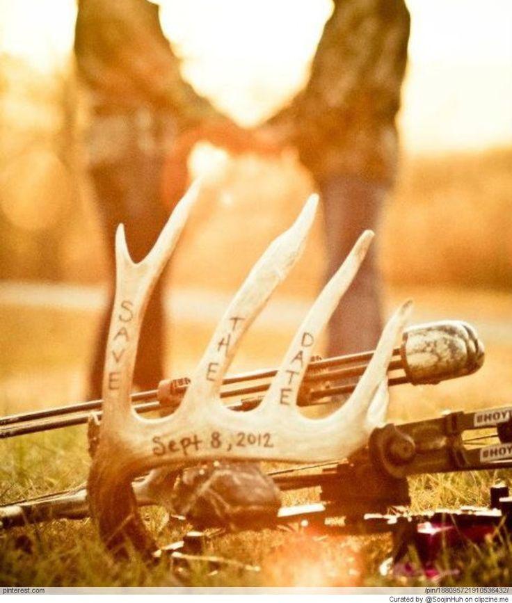 Hunting Engagement Photo Ideas Like The Antler Idea