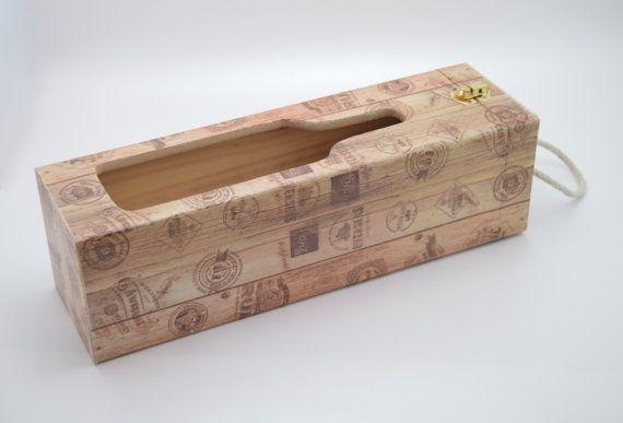Wooden decoupage wine box wooden wine box decoupage by PastimeArt