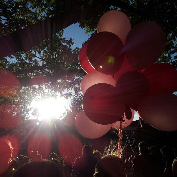 Pink ballons @ Gaypride Amsterdam