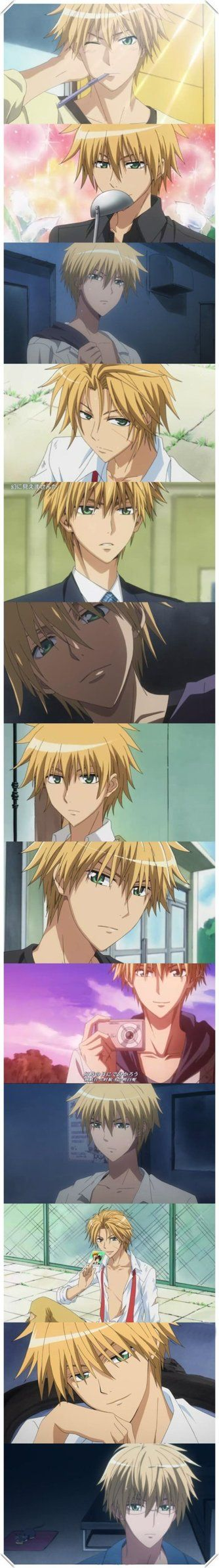 Kaichou Wa Maid-sama- Usui Takumi  Lol, now tell me nobody's perfect....