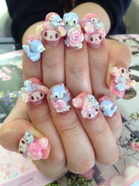 189 best Kawaii Nail Art images on Pinterest | Kawaii nail art, 3d ...