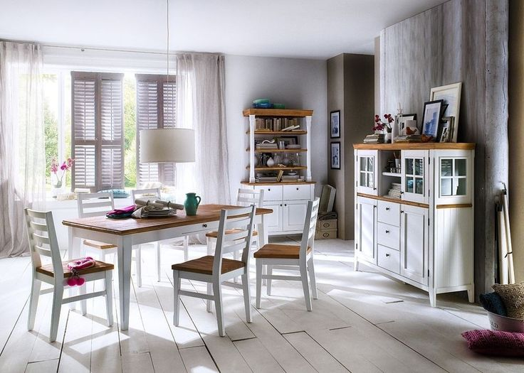 Möbel im Landhausstil aus der Serie Malin https\/\/wwwmoebel - esszimmer moderner landhausstil