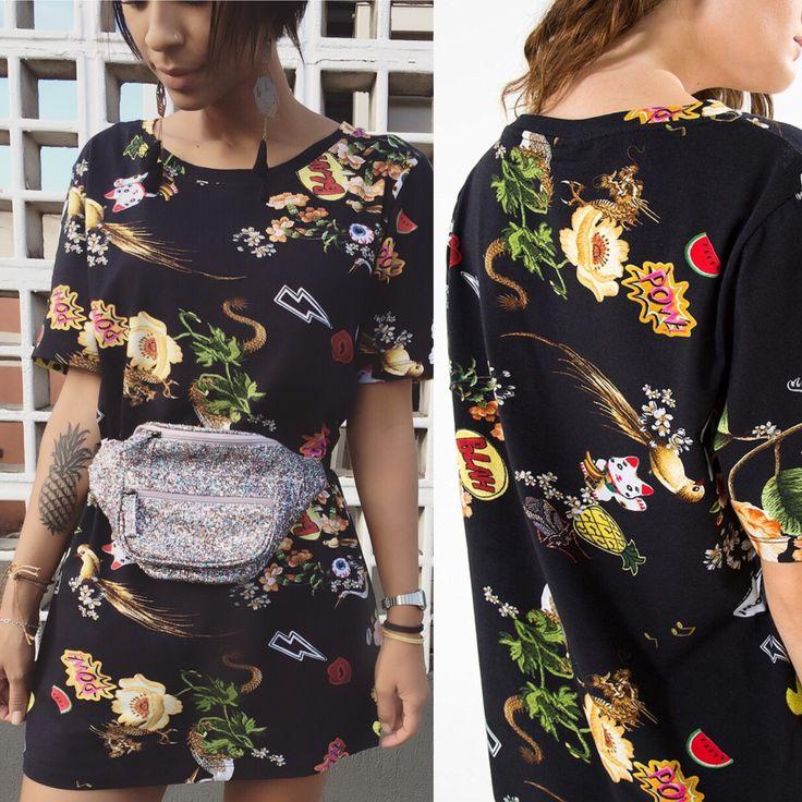 """🎎🏮🐉 """"Sarongue"""" no efarm🌸🎍. 👉🏽 vestido t-shirt divertidamente   de R$ 149,00   por R$ 134,10 . Inserindo o código promocional 🌸D937🌻 no """"campo do vendedor"""" ao finalizar sua compra ganha 10% de desconto ➕ frete grátis"""