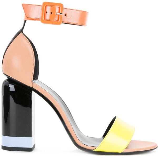 Pierre Hardy Memphis sandals found on Polyvore featuring shoes, sandals, heels, multi colored shoes, colorful sandals, pierre hardy shoes, multi color sandals and multicolor shoes
