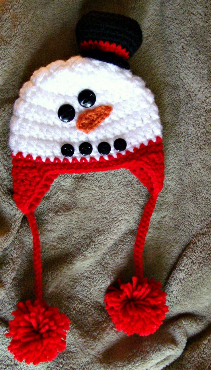 Knitting Pattern For Baby Snowman Hat