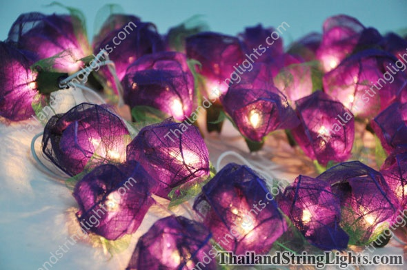 35 Bloomination Rose Lights - Purple Colored