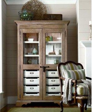 Paula Deen Down Home Paulas Dish Pantry - Oatmeal Multicolor - 192678 - contemporary - Pantry Cabinets - Hayneedle