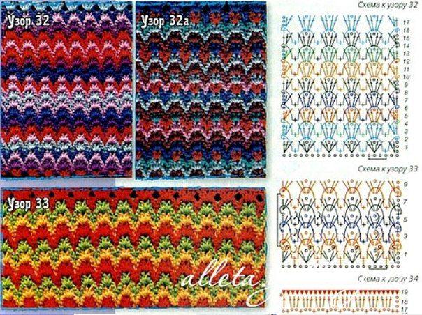 Узоры в стиле миссони. Идеи для вдохновения и подборка схем вязания крючком - Ярмарка Мастеров - ручная работа, handmade