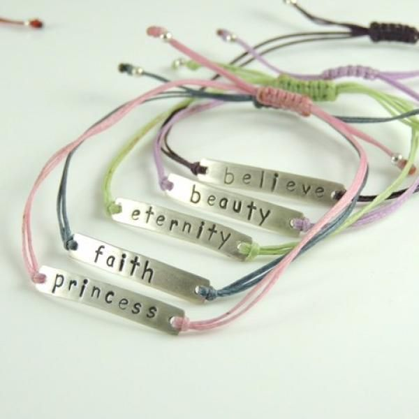Handmade made & stamped silver identities! Choose yours!