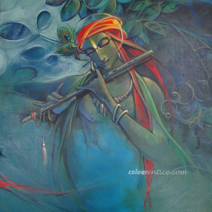 Buy Paintings Online by Artist Manoj Das - Krishana - CE102460