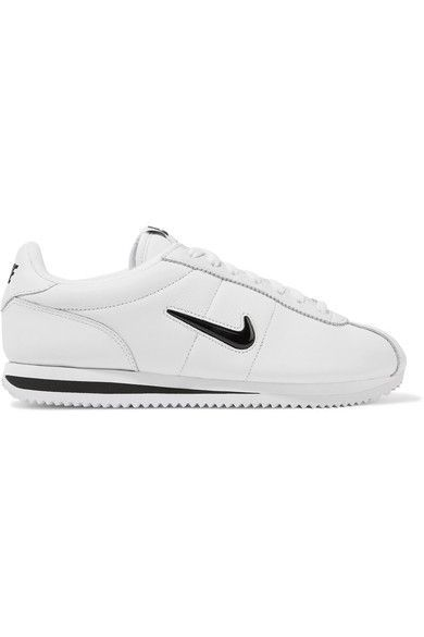 NIKE Cortez Basic Jewel Leather Sneakers. #nike #shoes #sneakers