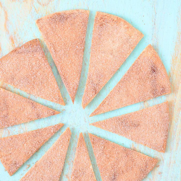 het komt misschien niet gelijk in je op om zelf zoete tortilla chips te maken…