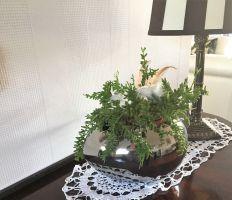 Dekoschale Keramik Ei Osterei Osterdeko oben offen silber