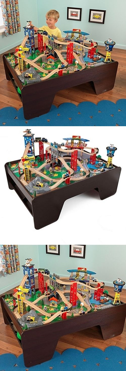 Brio Compatible 16517: Train Set And Table - Super Expressway By Kidkraft Delivered Free! Fun For Hours -> BUY IT NOW ONLY: $258.18 on eBay!