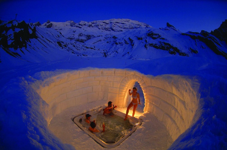 Hot Tub in Snow