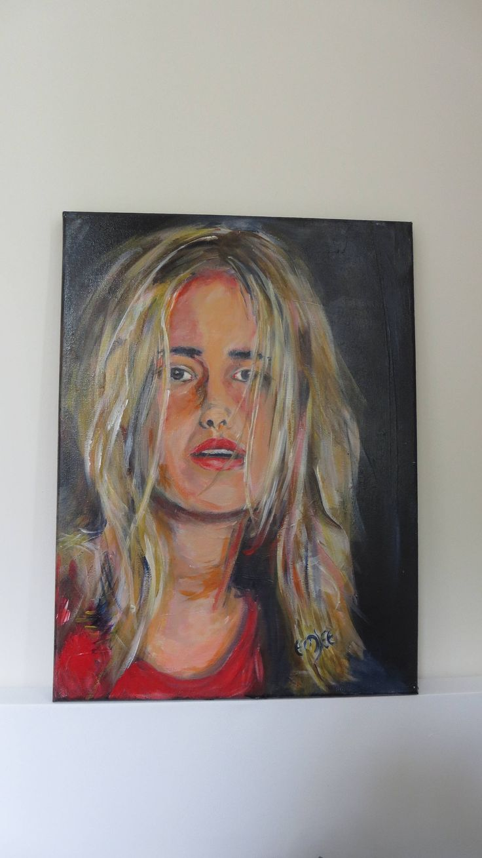 portret 30x40cm, origineel geschilderd, acrylverf, huisinrichting, decoratie muur, door artemjee op Etsy https://www.etsy.com/nl/listing/462557587/portret-30x40cm-origineel-geschilderd