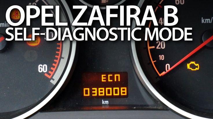 #Opel #Vauxhall #Zafira B #DTC error codes #diagnostic mode #cars