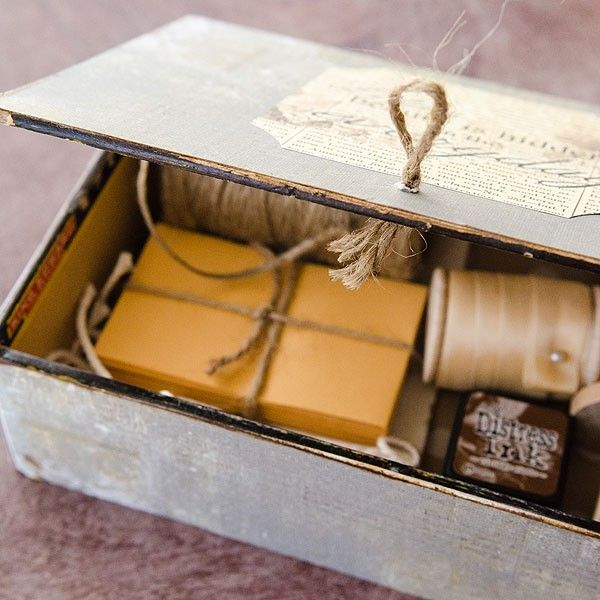 Stationer's Desk Altered Vintage Cigar Box Project - Stampington