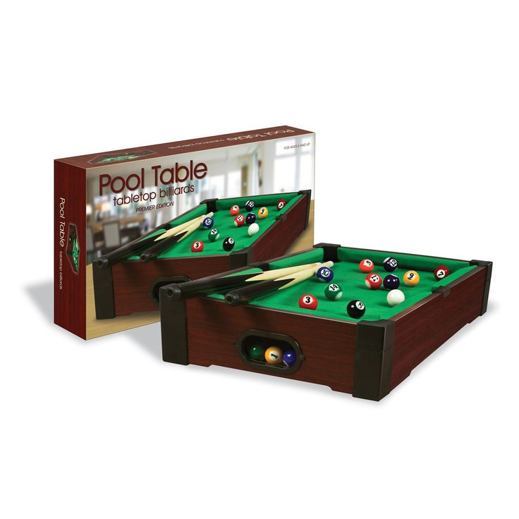 Tabletop Pool Table, Multicolor