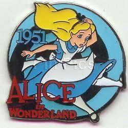 Disney DS Countdown to the Millennium Series #75 Alice in Wonderland  Pin