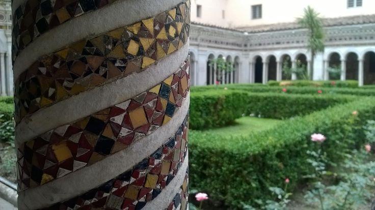 Chiostro, colonna, Basilica di San Paolo, #Roma