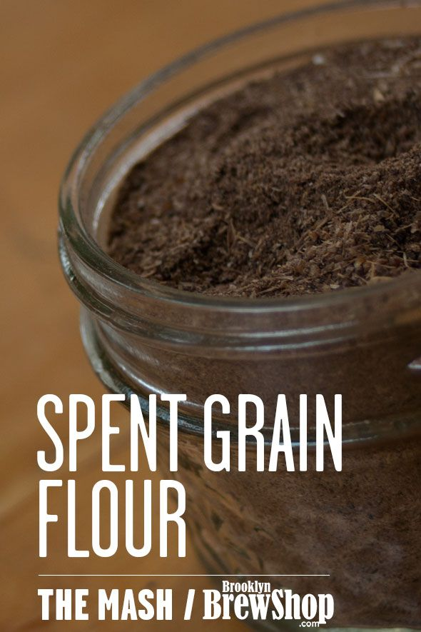 Turn your leftover brewing grains into a nutty spent grain flour to use in baking and more