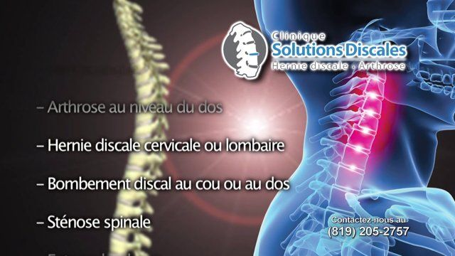 Clinique du dos à Gatineau - Traitement - Hernie Discale - Arthrose - Chiro