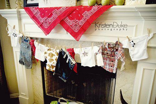 texas cowboy baby shower red bandanas for decor.... how cute! @Stephanie Close Close Gonzalez