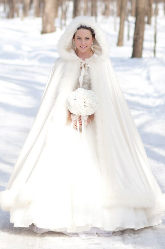 Uhm.... yes. Not this exact one, but if I get married in the winter I am totally rocking a cape. Or fur of some sort. Yes.