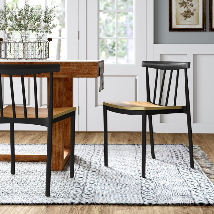 Laurel Foundry Modern Farmhouse Libertyville Side Chair Reviews Wayfair Dining Chairs Solid Wood Dining Chairs Side Chairs Low profile dining chairs