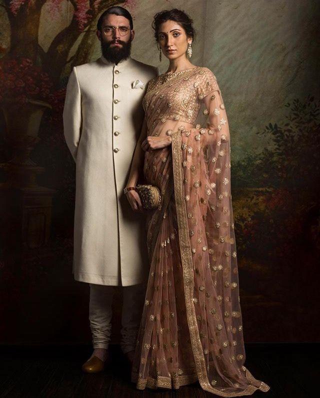 Sabyasachi Saree and Sherwani #couple