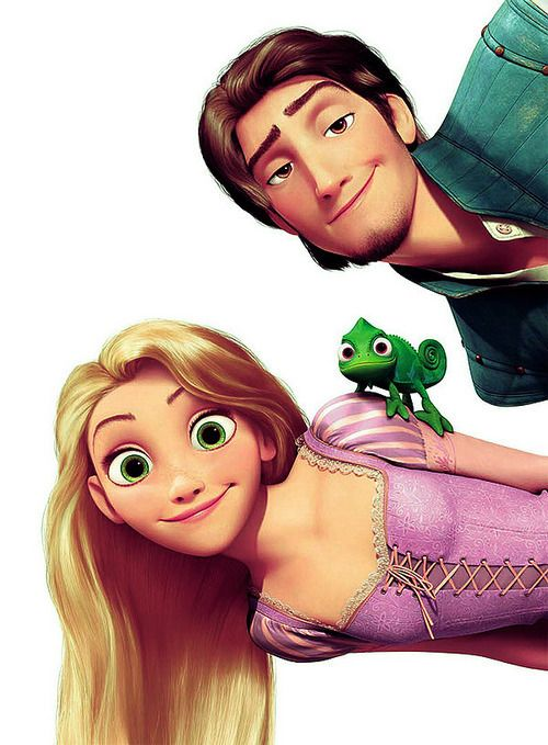 Eugene and Rapunzel (and Pascal)
