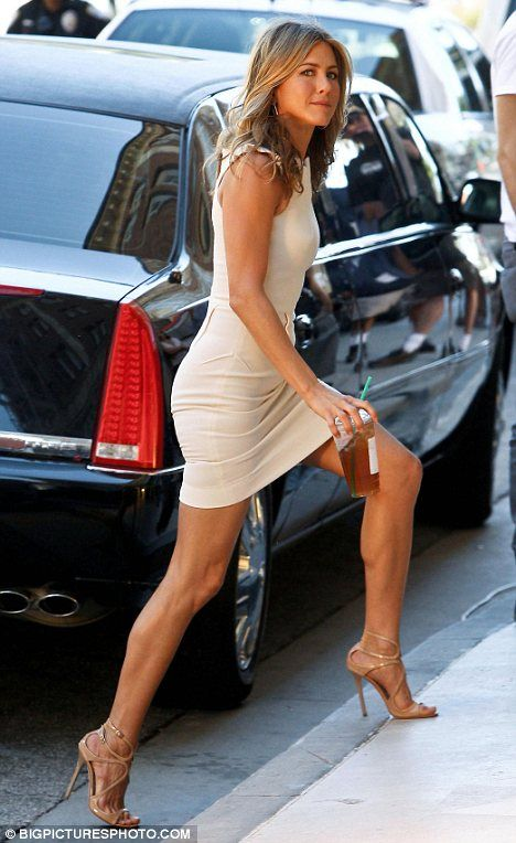 From the dress to the shoes - love how she's rocking this neutral look. Good workout inspiration too!