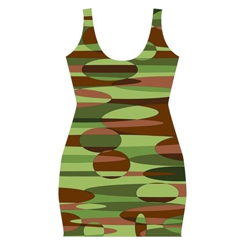 Green and Brown Spheres Bodycon Dress by Khoncepts.com   $54.99