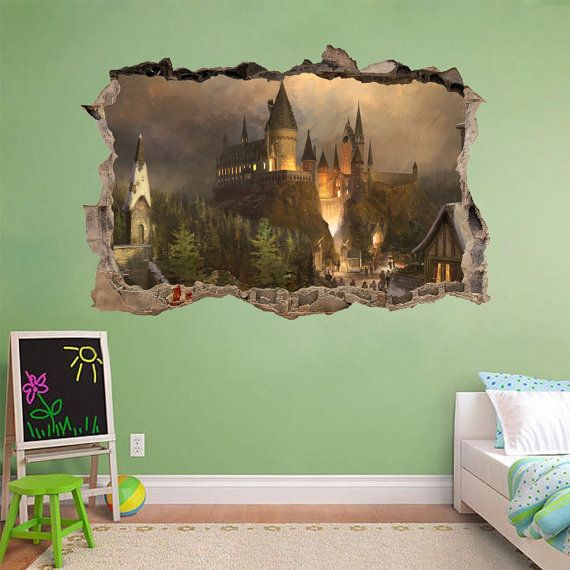 Hogwarts Harry Potter Smashed Wall Decal Wall by PrintaDream