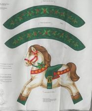 VTG T'was the Night Before Christmas Rocking Horse Soft Sculpture Cranston Panel