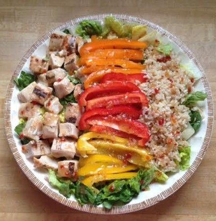 grilled chicken amp brown rice salad bowls