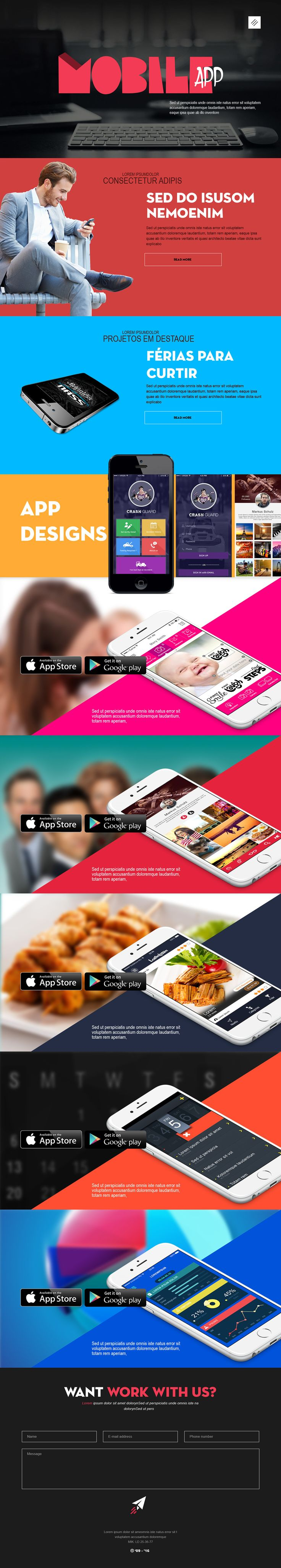 """Check out my @Behance project: """"Mobile Application Website Design"""" https://www.behance.net/gallery/43411279/Mobile-Application-Website-Design"""