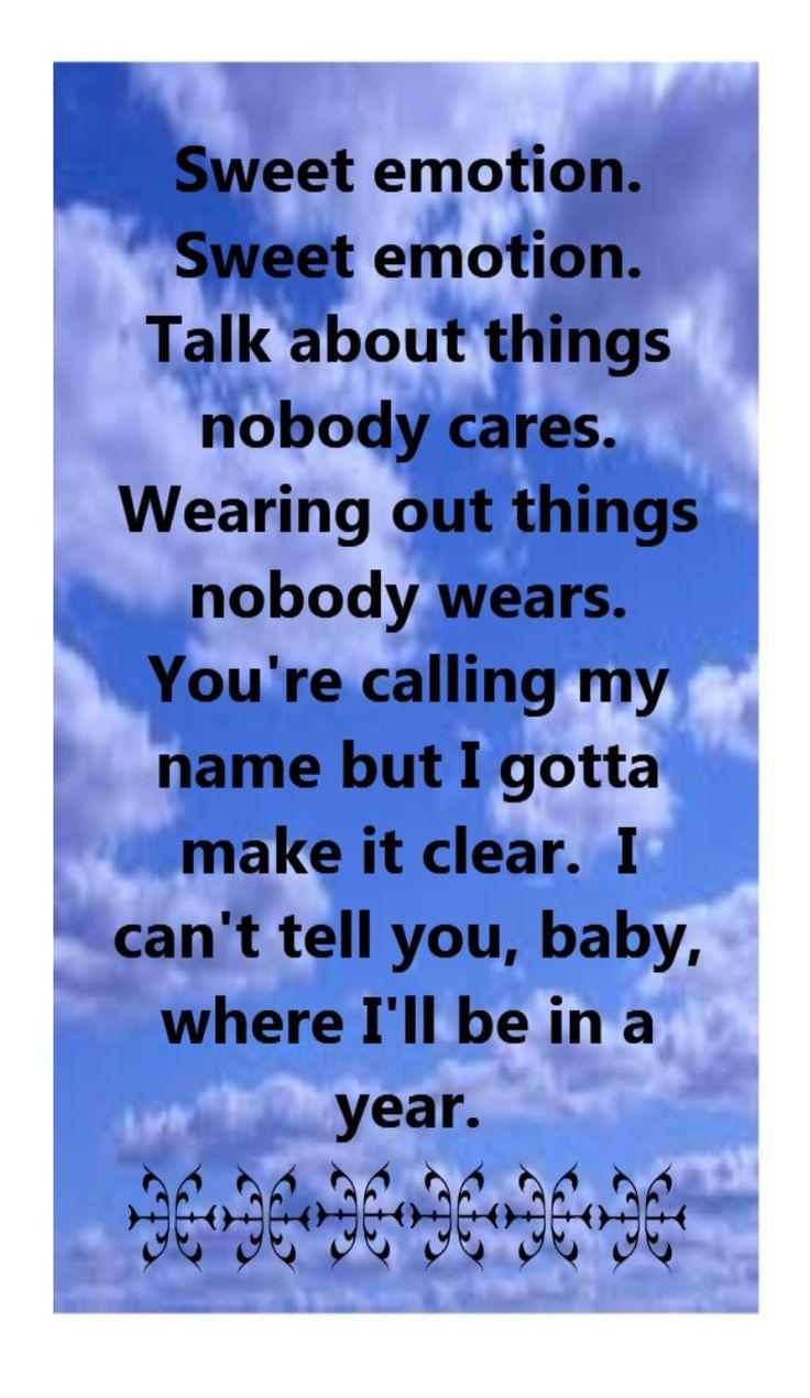 Aerosmith - Sweet Emotion Lyrics | MetroLyrics