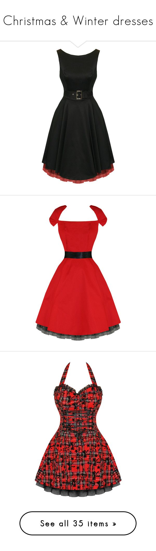 """""""Christmas & Winter dresses"""" by mietz ❤ liked on Polyvore featuring dresses, gothic lolita dress, gothic dresses, vintage prom dresses, vintage cocktail dresses, prom dresses, red retro dress, red vintage dress, gothic prom dresses and retro vintage dresses"""