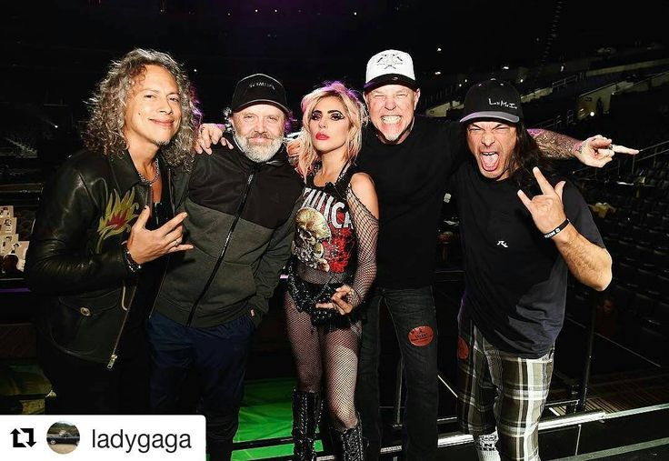 metallica #Repost @ladygaga with @repostapp ・・・ Gonna listen to Metallica all day and party with my friends and then play with them at the Grammy's. #MetalliGa