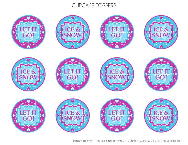 Frozen Cupcake Toppers Free frozen party printables