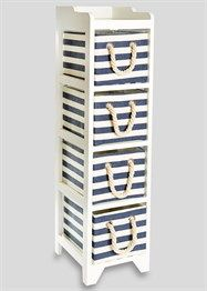 £35 matalan 4 Drawer Stripe Wooden Tower Unit (24.5cm x 29cm x 95cm)